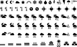 Set of weather icons Royalty Free Stock Images