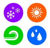 Set weather icons Royalty Free Stock Photo