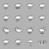 Set with weather icons Stock Photo