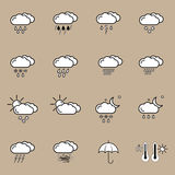 Set with weather icons Stock Images