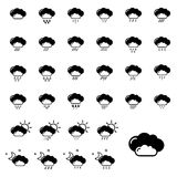 Set with weather icons Royalty Free Stock Images