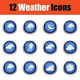 Set of weather icons. Flat design tennis icon set in ui colors. Stock Image