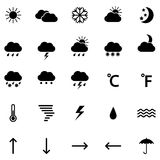 Set of weather icons, illustration Royalty Free Stock Photo