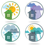 Set of weather icons. Stock Photo