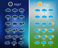 Set of weather icons for the interface Stock Photography