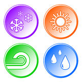 Set weather icons Royalty Free Stock Photography