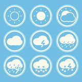 Set of weather icons. Royalty Free Stock Photo