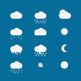 set of weather icons Royalty Free Stock Photography
