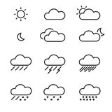 Set of  weather Icons Royalty Free Stock Image