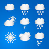 Set of Weather icons Stock Photo