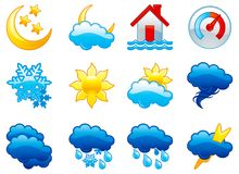 Set weather icons Royalty Free Stock Image