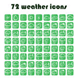 Set of weather icons. Vector Royalty Free Stock Photo