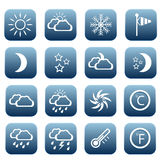 Set of weather icons. Vector illustration Stock Photography