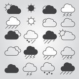 Set of weather icons. Stock Image