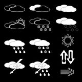 Set of weather icons. Stock Photography