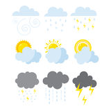 Set of weather icons vector. Stock Images