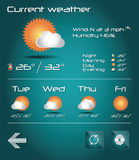 Set of weather icons for web and mobile, vector Stock Photography
