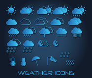 Set of weather icons for web and mobile, vector Stock Photos