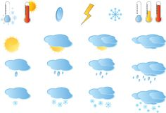 Set of weather icos Stock Photography