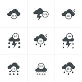 Set of weather message Royalty Free Stock Photography