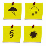 Set of weather signs Royalty Free Stock Photo