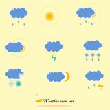 Set of weather symbols Royalty Free Stock Image