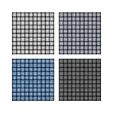 Set of weave background patterns. Set of cold toned weave patterns: silver, steel, icy and charcoal on the white background Stock Images
