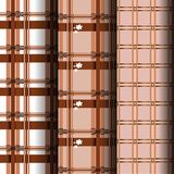 Set weave pattern. Brown and white weave pattern that can be used endlessly Stock Image