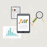 Set of web analytics information and development website statist Stock Photo