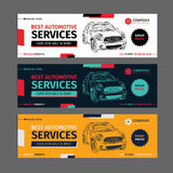 A Set of web Automotive services banners collection layouts. Stock Photography