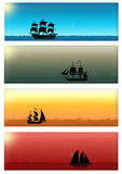 Set of web banner stock images