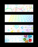 Set of Web Banners. Abstract colorful designs of web banners Royalty Free Stock Photography