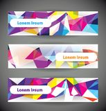Set of web banners. Royalty Free Stock Photo