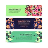 A Set of web banners collection layouts. Vector illustration Royalty Free Stock Images
