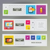 Set of web banners. Royalty Free Stock Photography