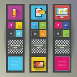 Set of web banners Stock Images