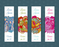 Set of web banners with floral elements Royalty Free Stock Photography