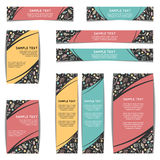 Set of web banners with floral pattern. Vector illustration Stock Photos
