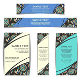 Set of web banners with floral pattern. Vector illustration Stock Photography