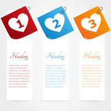 Set of web banners. Love theme Stock Photography