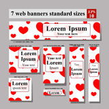 Set of web banners Valentine's Day Stock Image