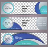 Set of web banners. Stock Images
