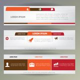 Set of web banners. Stock Photo
