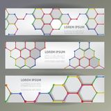Set of web banners. Stock Image