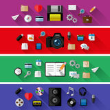 Set of web and business concepts. Flat design Royalty Free Stock Photos