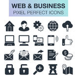 Set of web and business icons. Pixel perfect trendy icons for mobile apps and web design Stock Photo