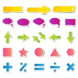 Set of Web Button Sticker Royalty Free Stock Images