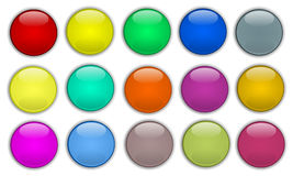 Set of web buttons. Set of colorful circular web buttons royalty free illustration