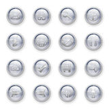 Set of web buttons. Set of shiny web buttons with cool effect on white background Royalty Free Stock Photo