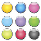 Set of web buttons Royalty Free Stock Images